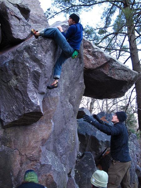 Rock Climbing Photo: Remo sending in late November 2010...brr!