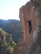 Rock Climbing Photo: Leading up Cowgirl.  Short, but sweet