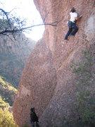 Rock Climbing Photo: Matt starting the overhanging bit.