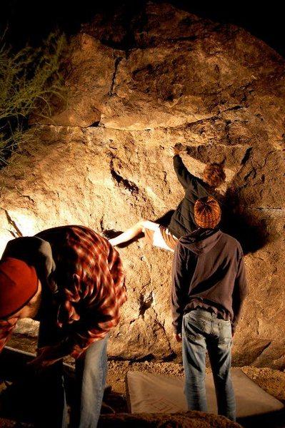 Rock Climbing Photo: gates pass night bouldering