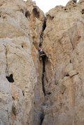 Rock Climbing Photo: Reni at the crux