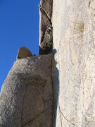 Rock Climbing Photo: View of the bottom section, with pro being placed ...
