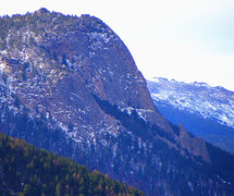 Rock Climbing Photo: Enticing view of Nun Buttress seen from Lumpy Ridg...