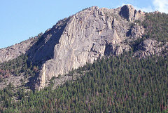 Rock Climbing Photo: Deer Mt. viewed from the NW on Fall River Valley R...
