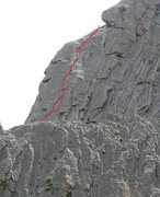 Rock Climbing Photo: The 5.8 pitch starting at Stagway.