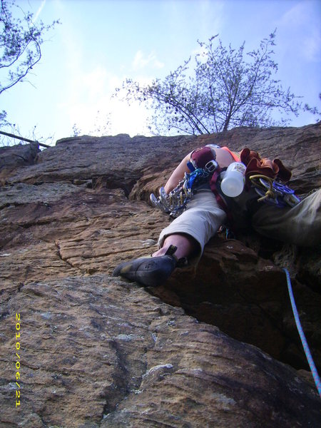 The angled exposed crack on pitch 5.