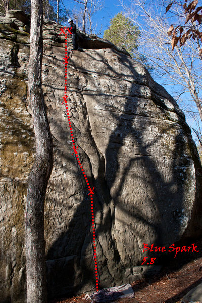 Rock Climbing Photo: Blue Spark 5.8