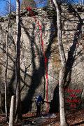 Rock Climbing Photo: Through the Smoke 5.9