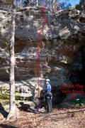 Rock Climbing Photo: Spank You Very Much 5.9