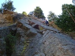 Rock Climbing Photo: First lead outside!