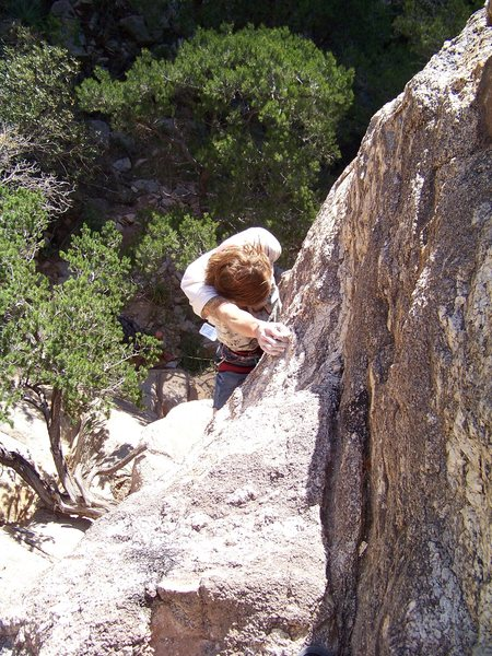 Rock Climbing Photo: Derek chalking...