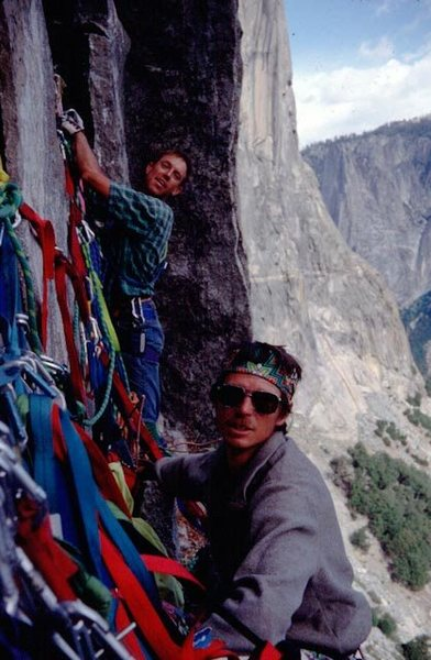 Rock Climbing Photo: Bob and Peter Thurston on NA wall