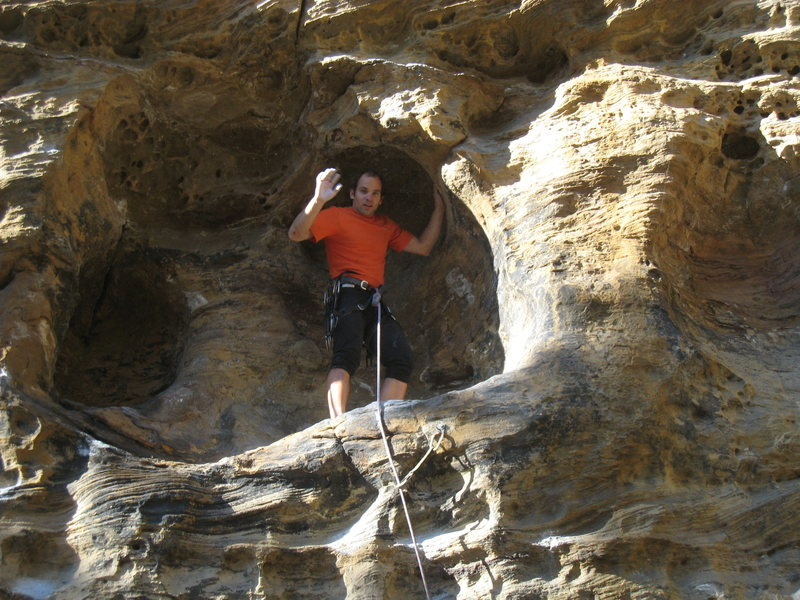 Rock Climbing Photo: Standing in one of the big huecos that Solar Colle...