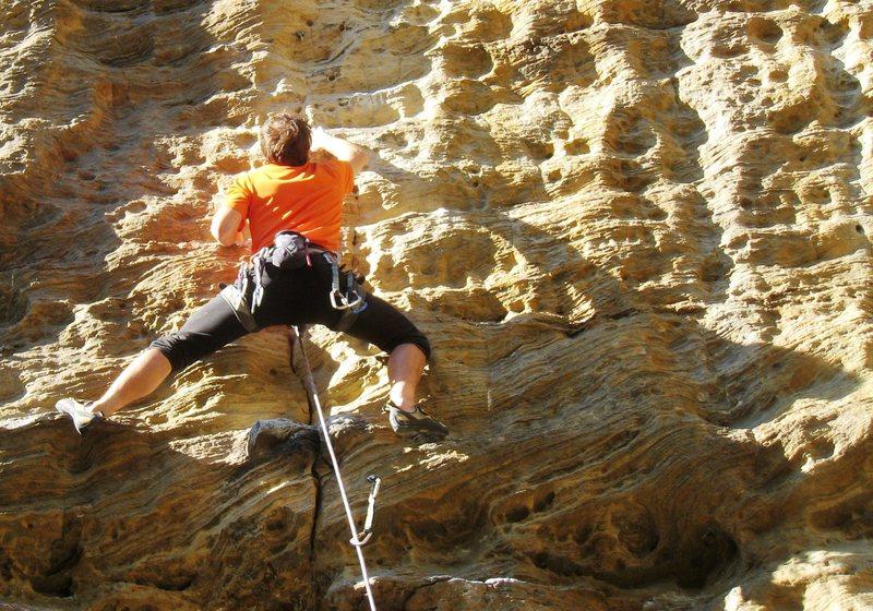 Rock Climbing Photo: Blue-Eyed Honkey Jesus.