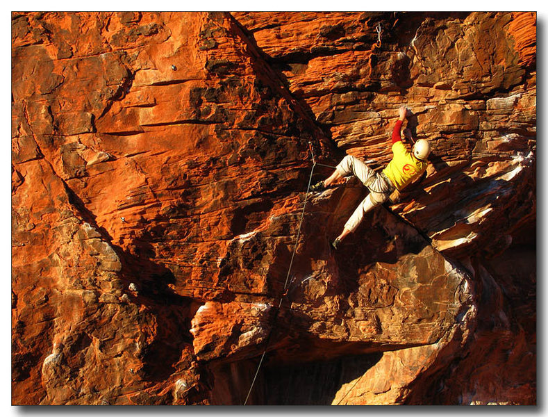 Rock Climbing Photo: Eric Deschamps send of Promises In The Dark, Novem...