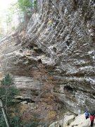 Rock Climbing Photo: Sean redpointing Resurrection.