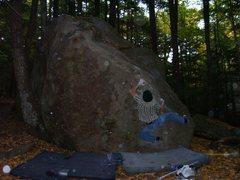 Rock Climbing Photo: Pete Otis in the crux