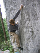 Rock Climbing Photo: Sean Brady - Trinity Traverse (V3)