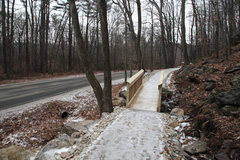 Rock Climbing Photo: The new roadside trail as it gets toward the 5.8 c...
