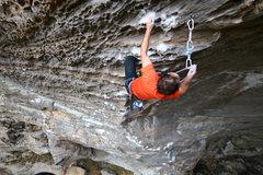 Rock Climbing Photo: Mark high on Kaleidoscope.