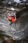 Rock Climbing Photo: Mark bearing down on Kaleidoscope.