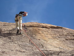 Rock Climbing Photo: On lead, new routin' at thunder