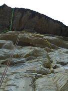 Rock Climbing Photo:  Raquel's Roof, left, Ipek's Mini-Skirt on right. ...