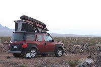 Rock Climbing Photo: Honda Element Ecamper