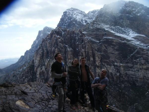 Rock Climbing Photo: rude boys! orange clonus topout