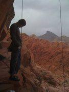 Rock Climbing Photo: mental prep 4 risk bro roof