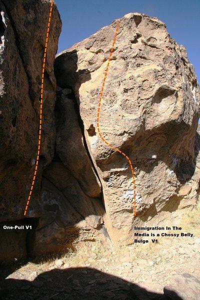 Rock Climbing Photo: Back Walls Left Center Topo