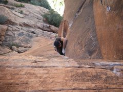 Rock Climbing Photo: crux on the fox