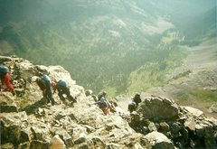 Rock Climbing Photo: Over the step....