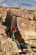 Rock Climbing Photo: Starting the tricky section on Atari