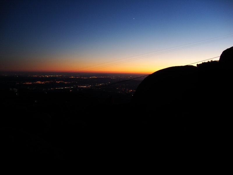 Rock Climbing Photo: The hike down.