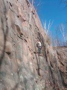 Rock Climbing Photo: Les Glazeman leading Bolt Bolt Boltin on Heaven's ...