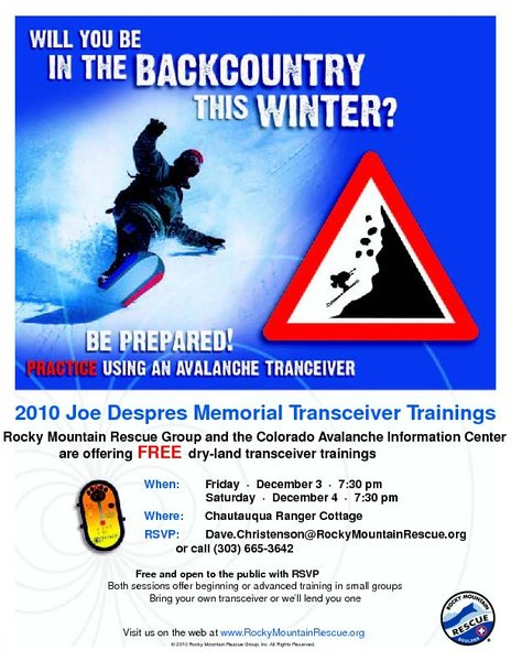 2010 Joe Despres Memorial Transceiver Training.