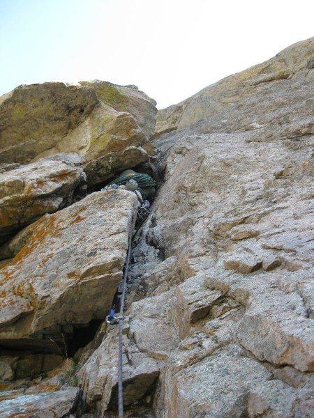 Rock Climbing Photo: Crux on 2nd pitch