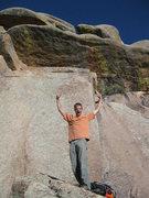 Rock Climbing Photo: Will stoked
