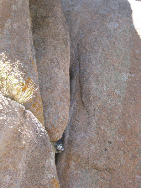 Rock Climbing Photo: deep crack!!