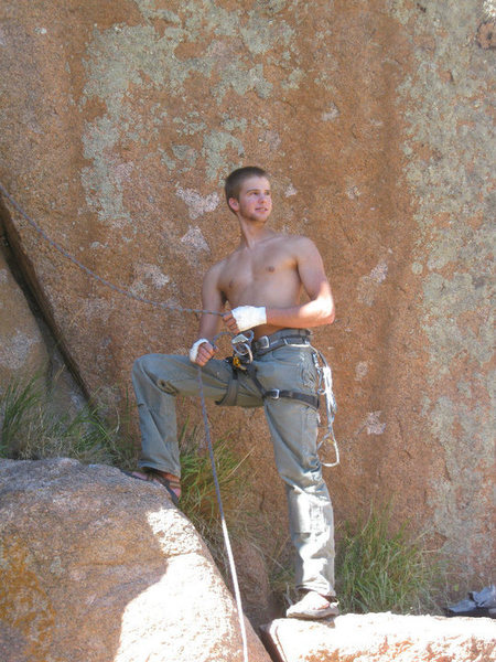 Rock Climbing Photo: attentive belay, haha