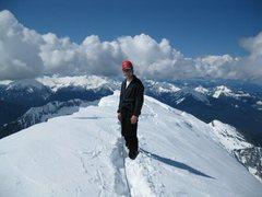 Rock Climbing Photo: Scott on the ridge
