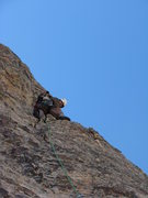Rock Climbing Photo: Me linking the last two pitches of Inti watana. Th...