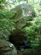 Rock Climbing Photo: Best V4 at Pawtuckaway.