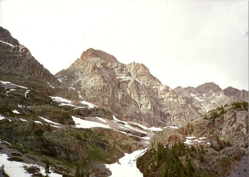 The convoluted South face of East Trinity Peak...or is that Middle Trinity Peak?