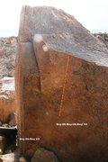 Rock Climbing Photo: Marvelous Boulder East Face Topo
