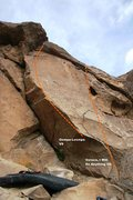 Rock Climbing Photo: Cracks on the Rim Right Side Right Topo