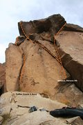 Rock Climbing Photo: Crack on the Rim Right Side Left Topo