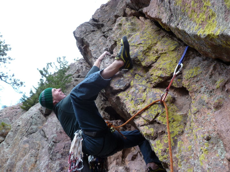 Rock Climbing Photo: The crux and the opening move.