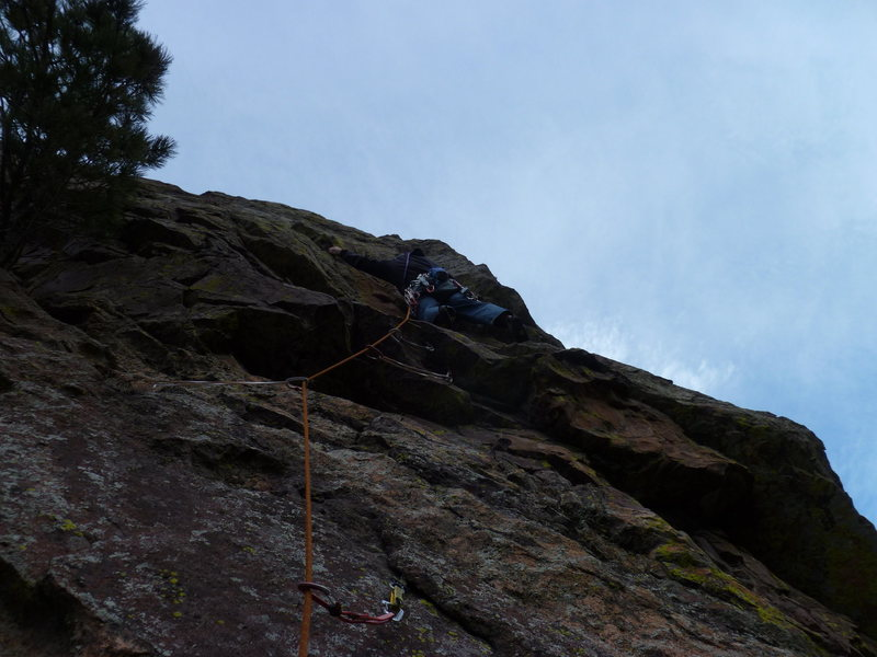 Rock Climbing Photo: About to clip the bolt. Photo: Mark Roth.